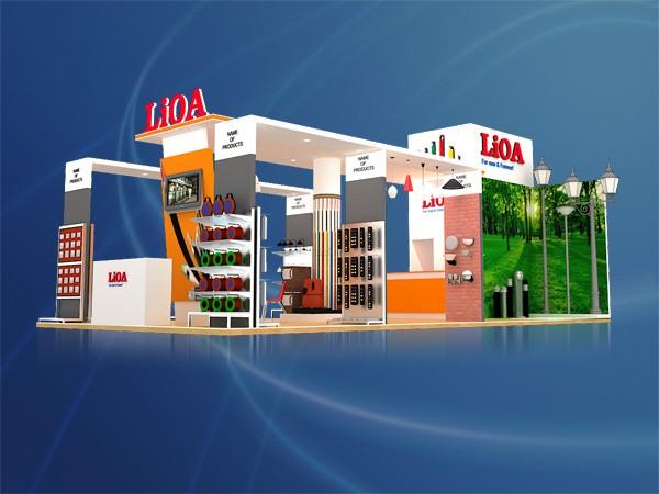 Thiết kế thi công gian hàng hội chợ triển lãm công ty LIOA Booth