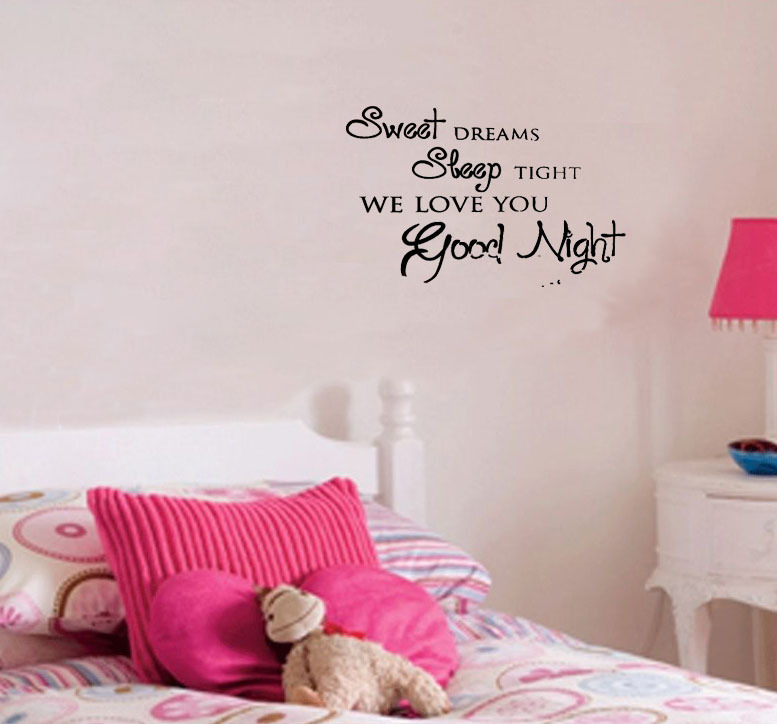 Sweet-Dreams-Sleep-Tight-we-love-you-font-b-good-b-font-font-b-night-b