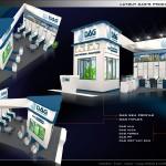 Thiết kế gian hàng triển lãm công ty Nhựa Đông Á – TL Vietbuild TP.HCM 2015 (KT 6×9)