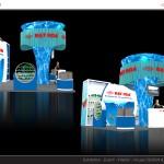 Thiết kế gian hàng triển lãm công ty Nhựa Đạt Hòa - TL Vietbuild 2015 (KT 6x6)