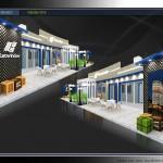 Thiết kế gian hàng triển lãm công ty EuroWindow – TL Vietbuild Hanoi 2016 (KT 6×15)