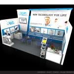 Thiết kế gian hàng triển lãm công ty Y tế Đại Dương – TL Medi-pharm2015 (KT 3×9)