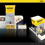 Thiết kế gian hàng triển lãm công ty Mani – TL Quốc tế Đa khoa TP.HCM 2015 (KT 3×6)