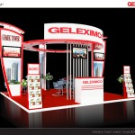 Thiết kế gian hàng triển lãm công ty Geleximco – TL Bất động sản HN 2015 (KT 6×6)