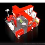 Thiết kế gian hàng triển lãm công ty PMG – TL Vietbuild2015 (KT 6×9)