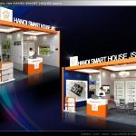 Thiết kế gian hàng triển lãm công ty Nhà thông minh – TL Vietbuild Hanoi 2016 (KT 6×3)