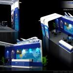 Thiết kế gian hàng hội chợ Máy bay Ana – HC VITM2015 (KT 3×6)