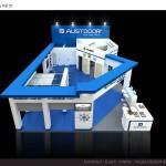 Thiết kế gian hàng triển lãm công ty AustDoor – TL Vietbuild TP.HCM 2015 (KT 6×12)