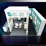 Thiết kế gian hàng triển lãm công ty Fatta – TL Vietbuild TP.HCM 2015 (KT 6×6)