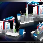 Thiết kế gian hàng triển lãm công ty Honkon – TL Medi-pharm2015 (KT 3×12)