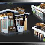 Thiết kế gian hàng triển lãm công ty Cửa Hàn Quốc KOS – TL Vietbuild Hanoi 2016 (KT 6×9)