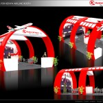 Thiết kế gian hàng hội chợ Máy bay Kenny Airline – HC VITM2015 (KT 9×6)