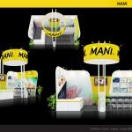 Thiết kế gian hàng hội chợ Mani – HC Nha khoa TP.HCM 2016 (KT 3×6)
