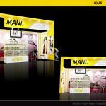 Thiết kế gian hàng triển lãm công ty Mani – TL Răng hàm mặt 2015 (KT 3×6)