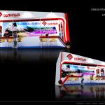 Thiết kế gian hàng hội chợ Danh Nam travel – HC VITM2015 (KT3x6)