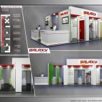 Thiết kế gian hàng triển lãm công ty Galaxy – TL Vietbuild Hanoi 2016 (KT 6×9)