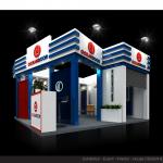 Thiết kế gian hàng triển lãm công ty Oceandoor – TL Vietbuild2015 (KT 6×6)