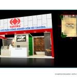 Thiết kế gian hàng công ty Taicrea – TL Vietbuild Hanoi 2016 (KT 6×9)