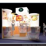 Thiết kế gian hàng hội chợ Nha Trang Yến Sào - HC Vàng 2014 (KT 3x3m)