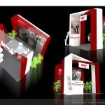 Thiết kế gian hàng triển lãm công ty Luật Smic – TL Bất động sản HN 2015 (KT 3×3)
