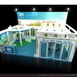 Thiết kế gian hàng triển lãm công ty Gia Đức – TL Vietbuild TP.HCM 2015 (KT 6×3)