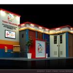 Thiết kế gian hàng triển lãm công ty Thành Tiến – TL Vietbuild2015 (KT 3×6)