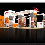 Thiết kế gian hàng triển lãm công ty LiOA - TL Vietbuild 2015 (KT 6x9)