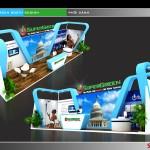 Thiết kế gian hàng triển lãm công ty SuperGreen – TL Vietbuild Hanoi 2016 (KT 3×12)