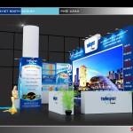 Thiết kế gian hàng hội chợ TransViet – HC VITM2016 (KT 4×10)