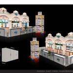 Thiết kế gian hàng hội chợ TransViet travel – HC VITM2015 (KT4x10)