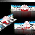 Thiết kế gian hàng triển lãm công ty VPIC – TL Medi-pharm2015 (KT 3×12)