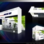 Thiết kế gian hàng triển lãm công ty ProMed – TL Medi-Pharm2015 (KT3X6)