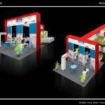Thiết kế gian hàng triển lãm công ty DTH – TL Quốc tế Đa khoa TP.HCM 2015 (KT 15×6)
