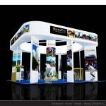 Thiết kế gian hàng hội chợ Golden Service – HC VITM2015 (KT6x6)