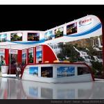 Thiết kế gian hàng hội chợ Fiditour travel – HC VITM2015 (KT 3×9)