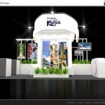 Thiết kế gian hàng hội chợ Tổng cục Du lịch Hàn Quốc – HC VITM2015 (KT 9×12)