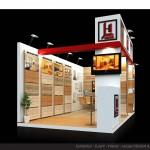 Thiết kế gian hàng triển lãm công ty Lê Hòa – TL Vietbuild2015 (KT 3×6)