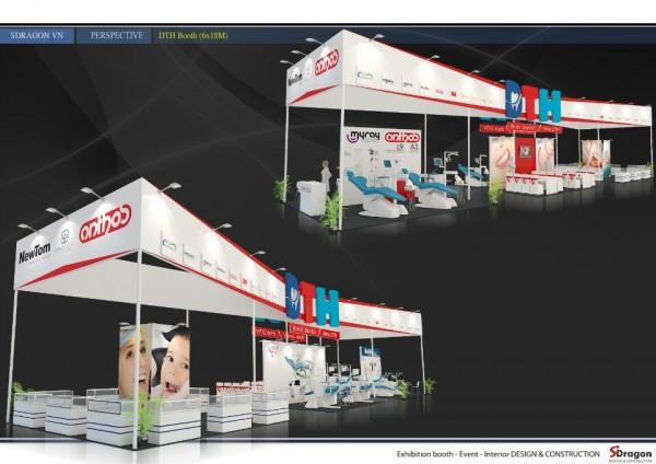 Thiết kế thi công gian hàng hội chợ triển lãm Công ty Cung ứng vật tư y tế DTH