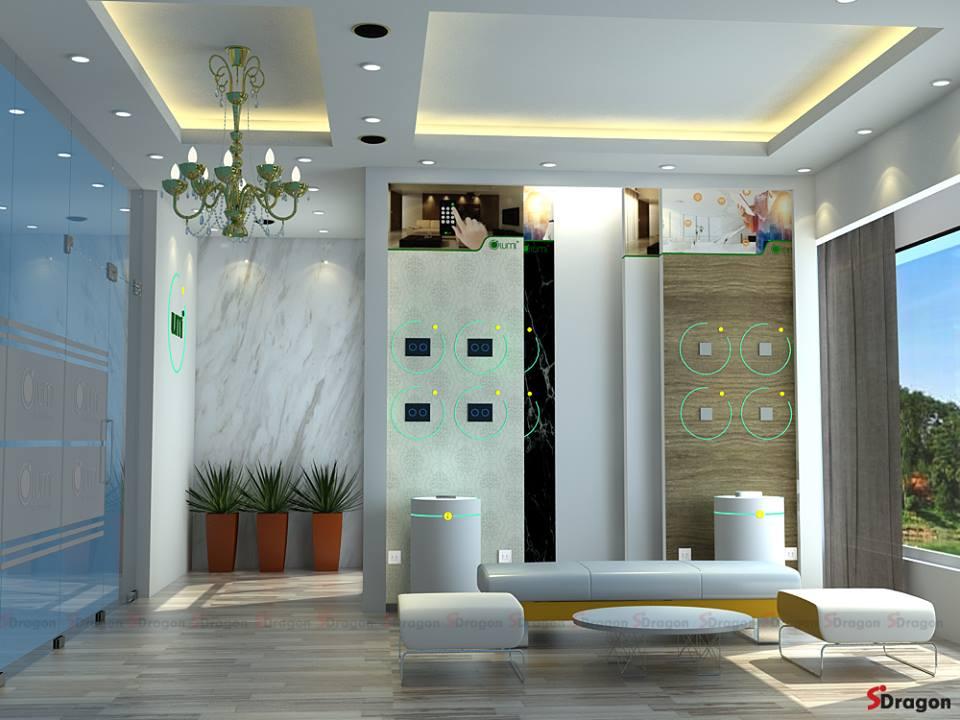 thiết kế gian hàng hội chợ - thiết kế gian hàng triển lãm showroom ấn tượng
