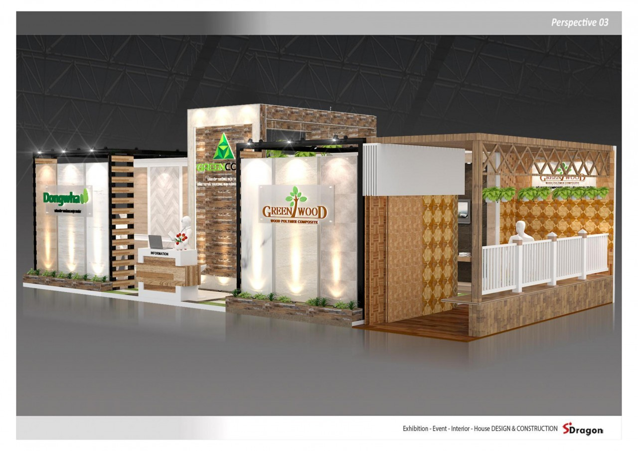 gian hàng triển lãm công ty green wood 3