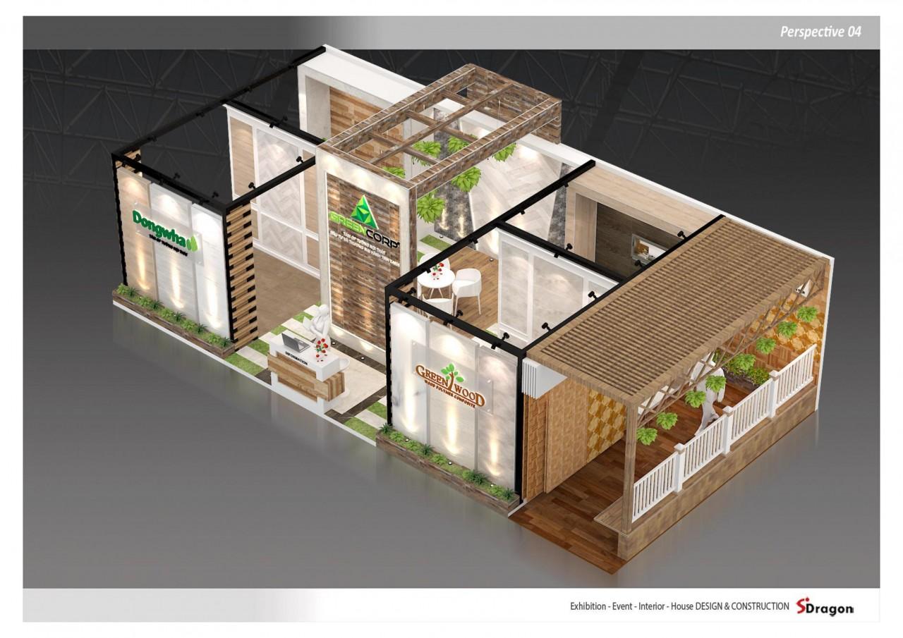gian hàng triển lãm công ty green wood 4