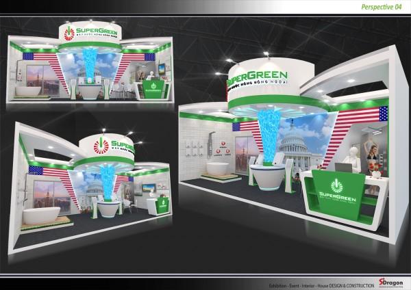 Thiết kế và thi công gian hàng SUPER GREEN