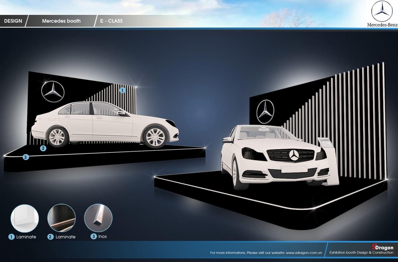Gian hàng Mercedes