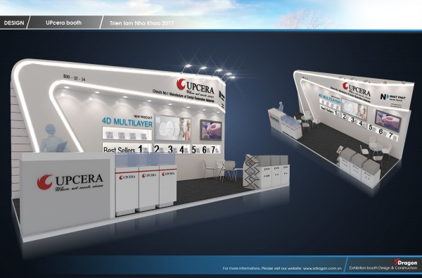 Upcera Booth Design and Construction