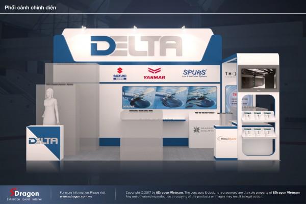 Thiết kế và thi công gian hàng Delta