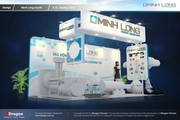 Thiết kế và thi công gian hàng Minh Long