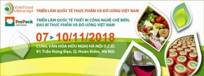 Triển lãm Quốc tế Thực phẩm và Đồ uống 2018 tại Hà Nội