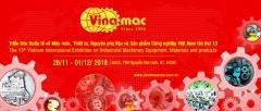 VINAMAC EXPO 2018 – Triển lãm Quốc tế máy móc thiết bị, nguyên phụ liệu và sản phẩm công nghiệp lần thứ 13
