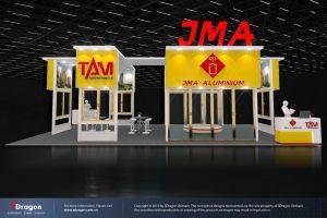 Thiết kế gian hàng hội trợ VietBuild của JMA