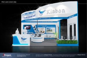 Thiết kế gian hàng KimBon tại triển lãm lớn nhất Việt Nam hiện nay về ngành xâ dựng công ty